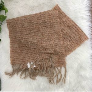 Donegal Design | Tan Scarf Soft Mohair Wool Blend